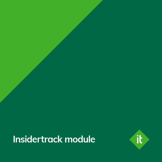 Insidertrack Module Announcement