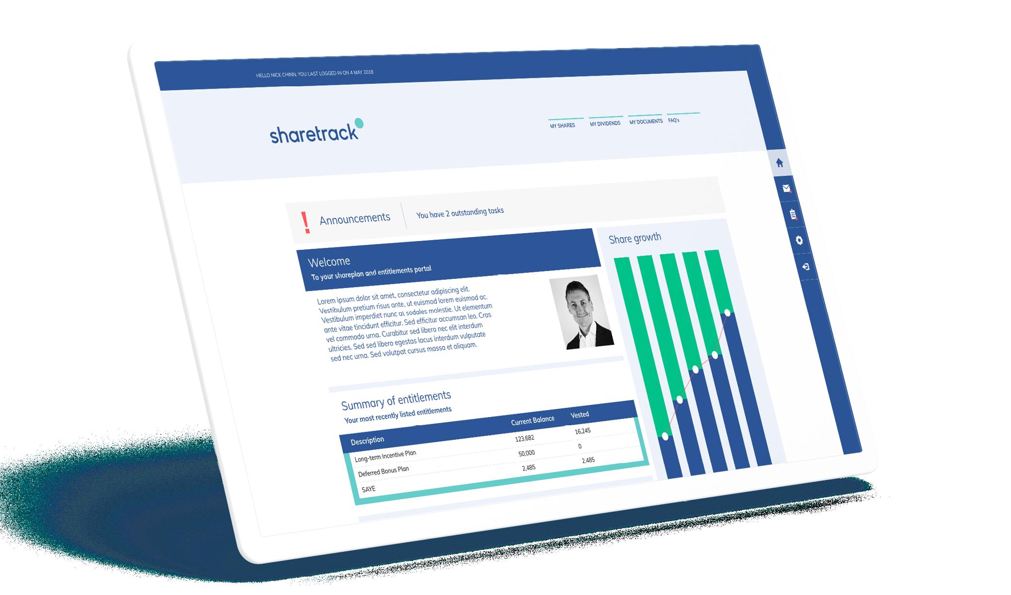 Sharetrack Portal